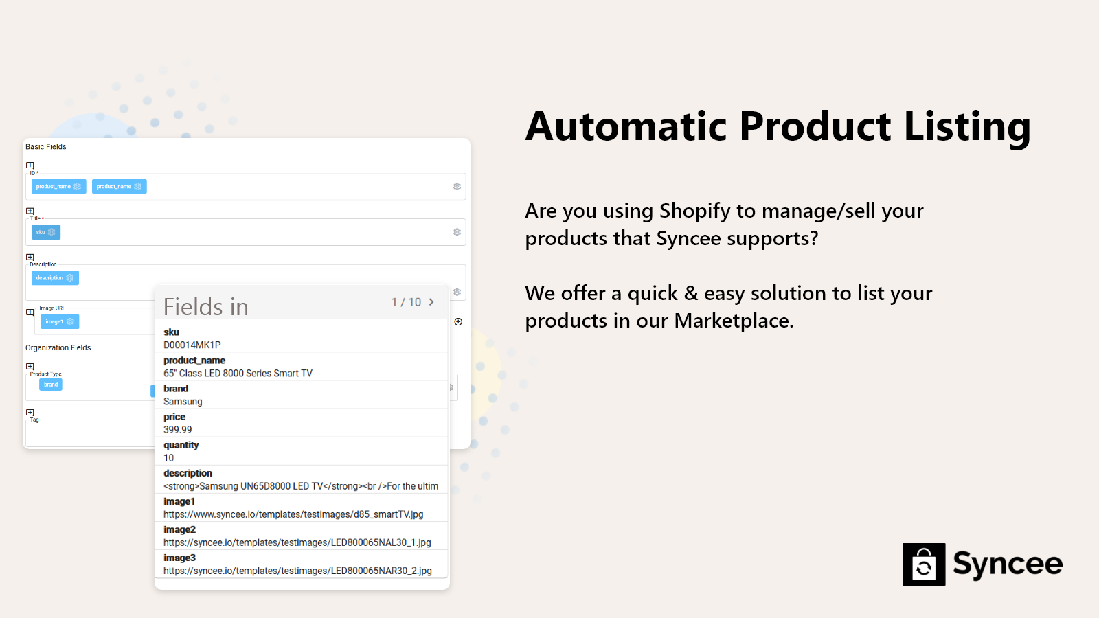 List your products automatically in Syncee Marketplace