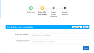Enter the keys on Best Shopify Fruugo app