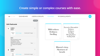 Create simple or complex courses with ease.