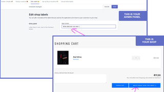 Edit button in cart page