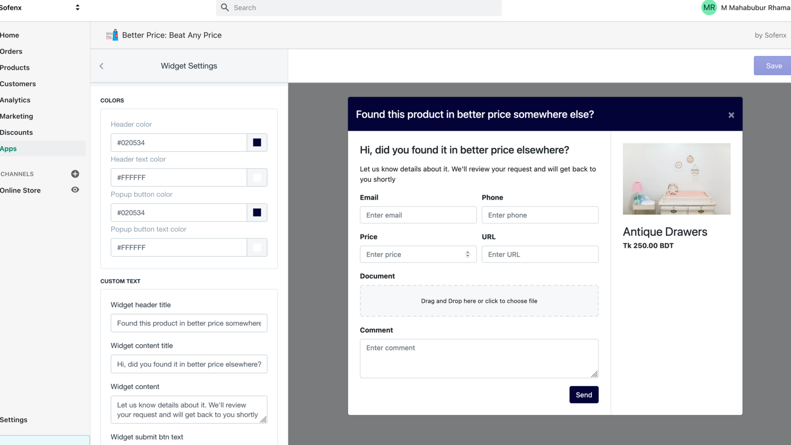 Highly customizable popup and bbuttons
