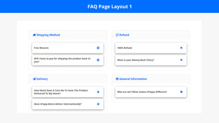 FAQ Page Layout 1