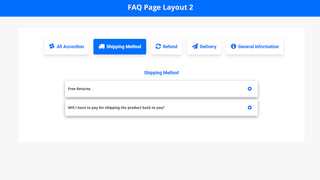FAQ Page Layout 2