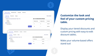 Customize the look and feel of your custom pricing table