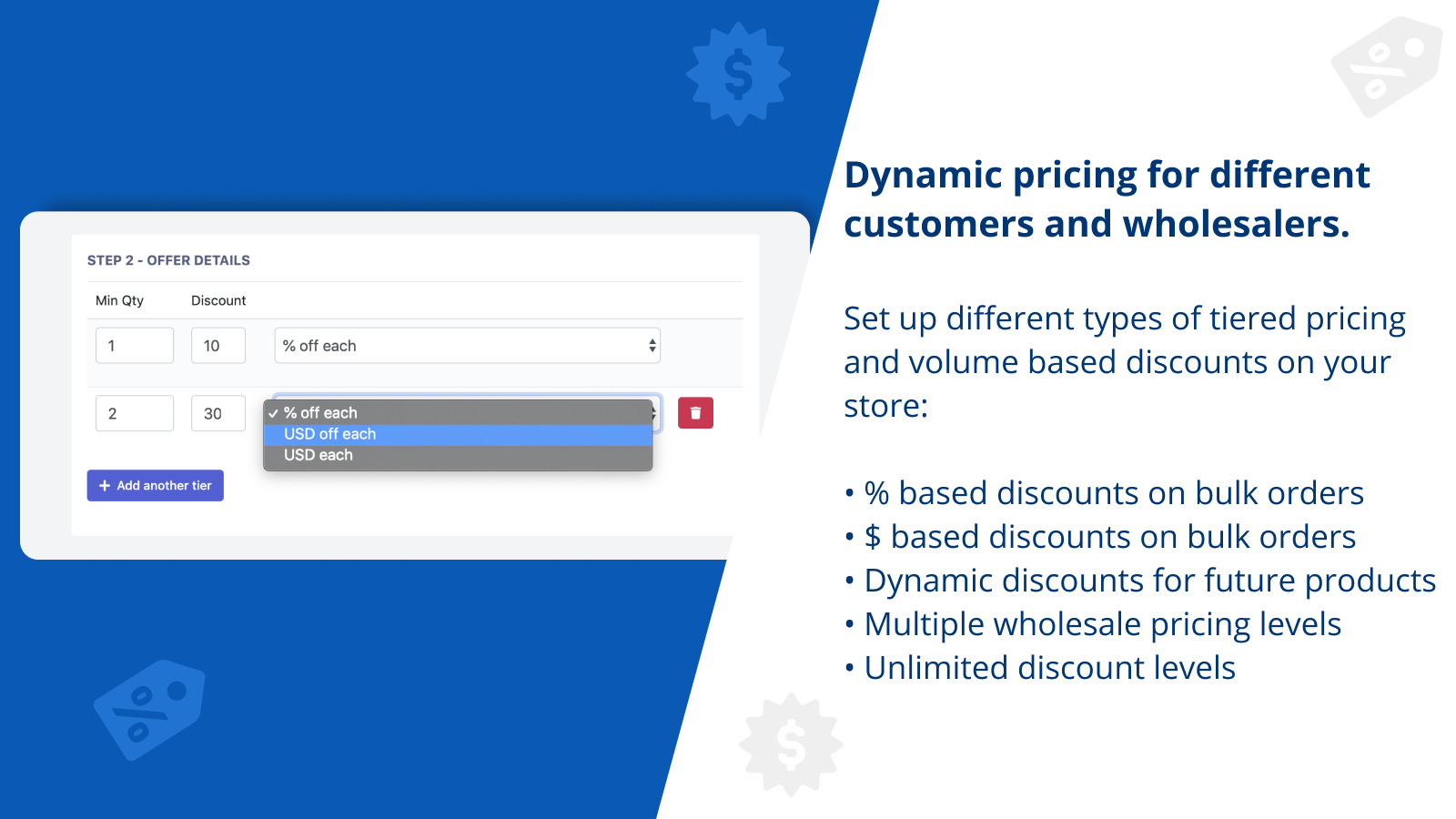 Dynamic pricing for different customers