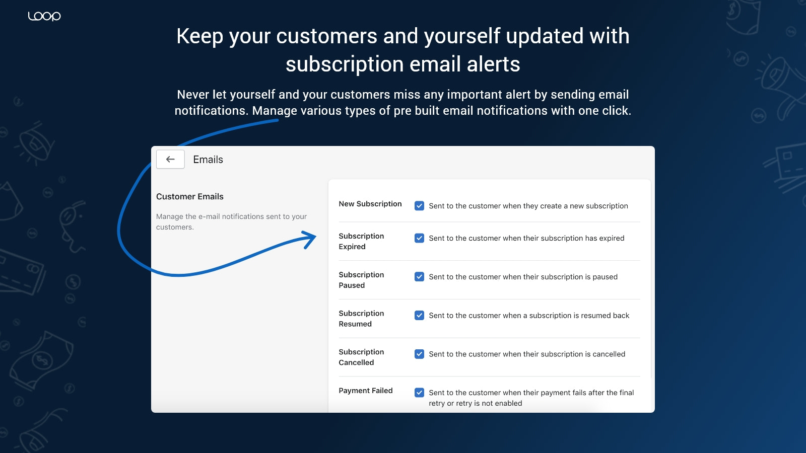 Subscription Email Alerts for creation / failed subscriptions...