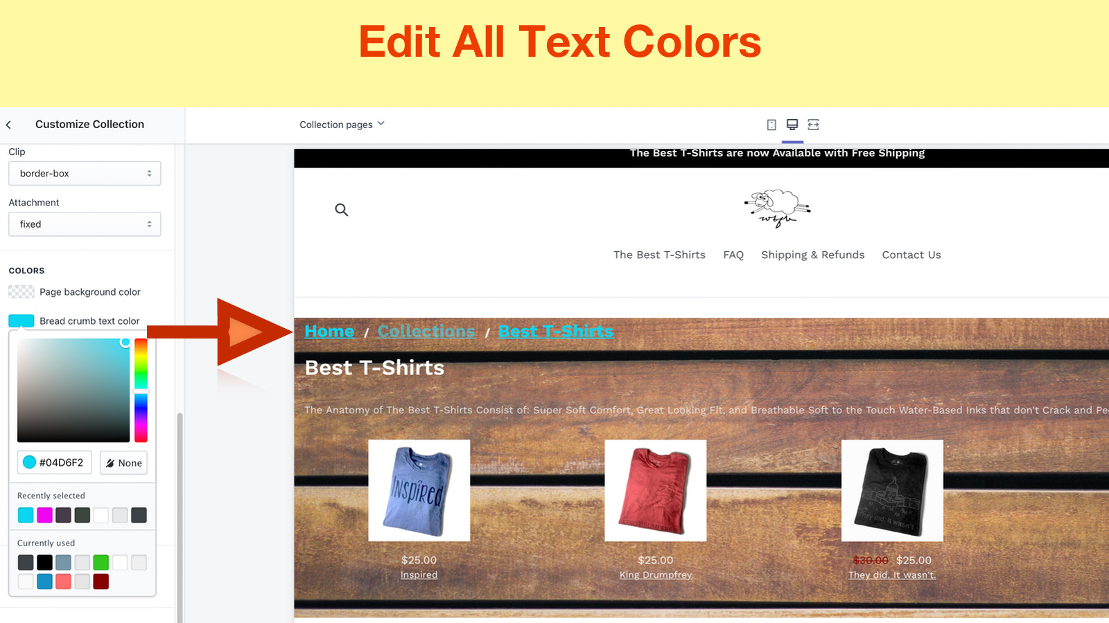 custom design collections for shopify