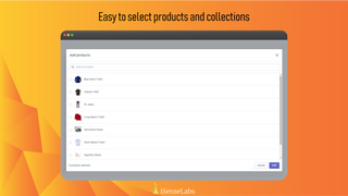 Easy to select products and collections