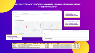 find a store location, auto detect store address