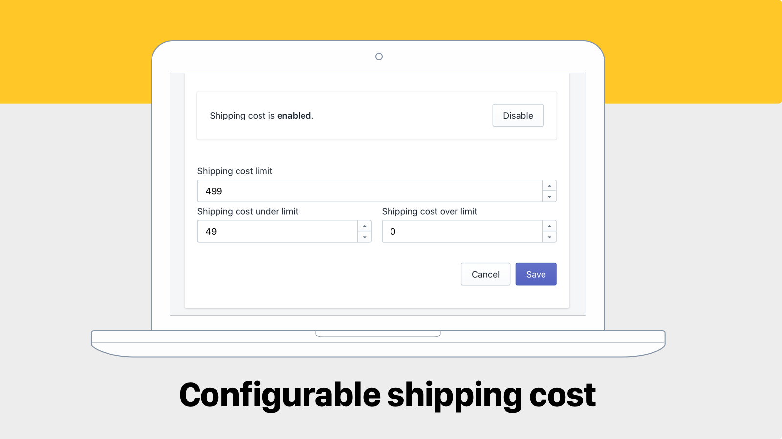 Configurable shipping cost