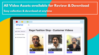 review customer videos in ampup dashbaord
