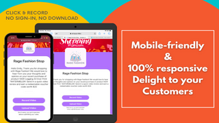 easy to use mobile experience for customers