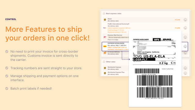 Print label, fulfilled your Shopify orders