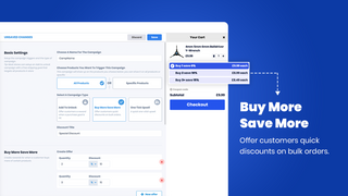 Buy more Save more Upsell - Tiered pricing