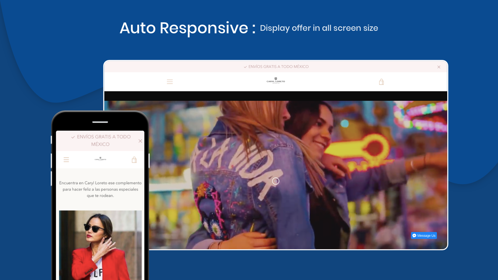 Perfect Responsive announcement Bar with Slider