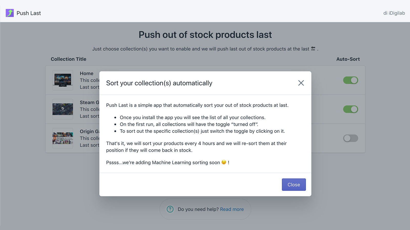 Push Out Of Stock Products to the End of Collections