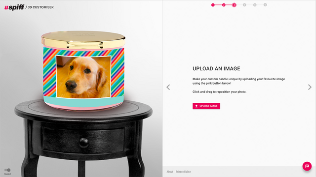 Allow customers to add their own images into the scene