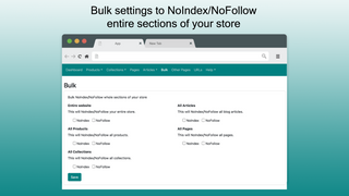 Bulk settings available to NoIndex/NoFollow sections