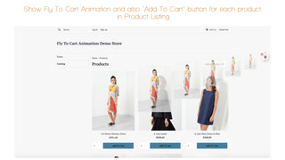 Fly To Cart Animation Effect and Sticky Cart in product listing