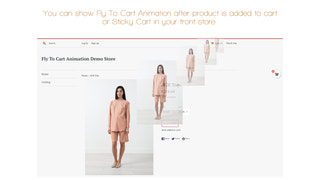 Fly To Cart Animation Effect and Sticky Cart in product page