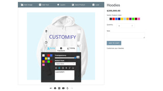 Product Customizer Screenshot