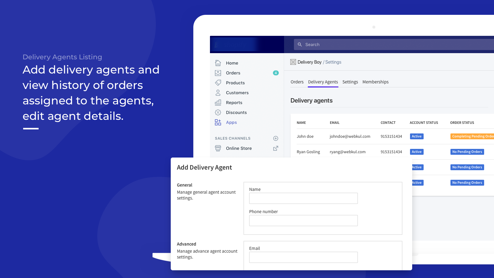 Agent Listing - Delivery Boy