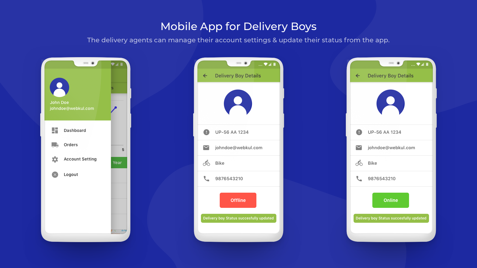 delivery agent account