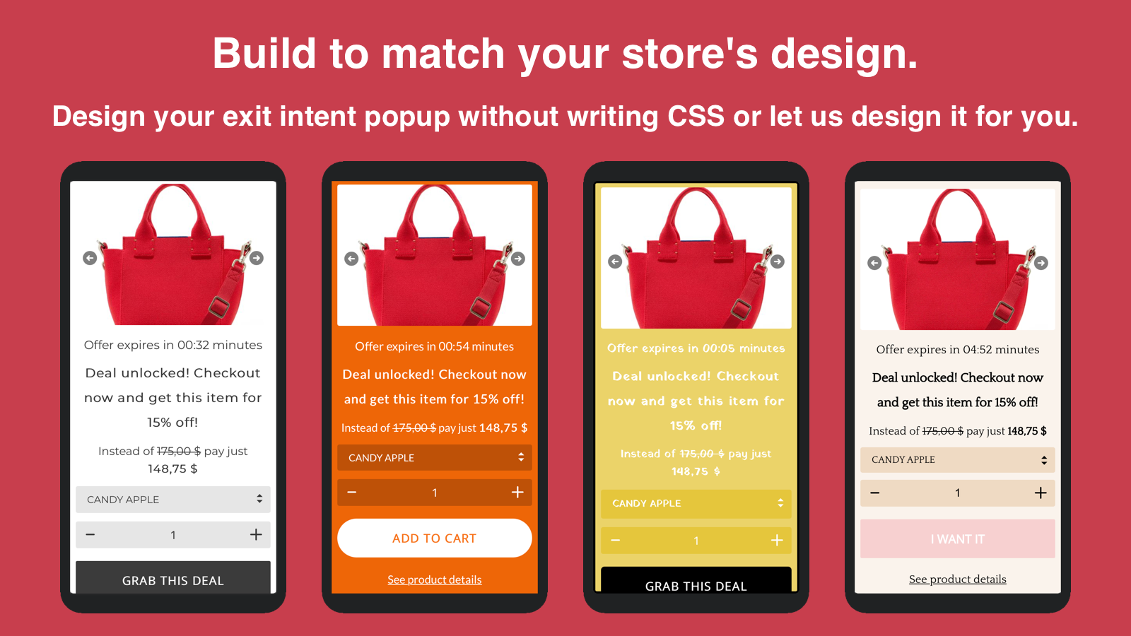 Build to match your store's design