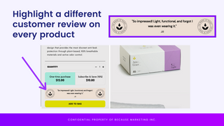 Customer review banner example