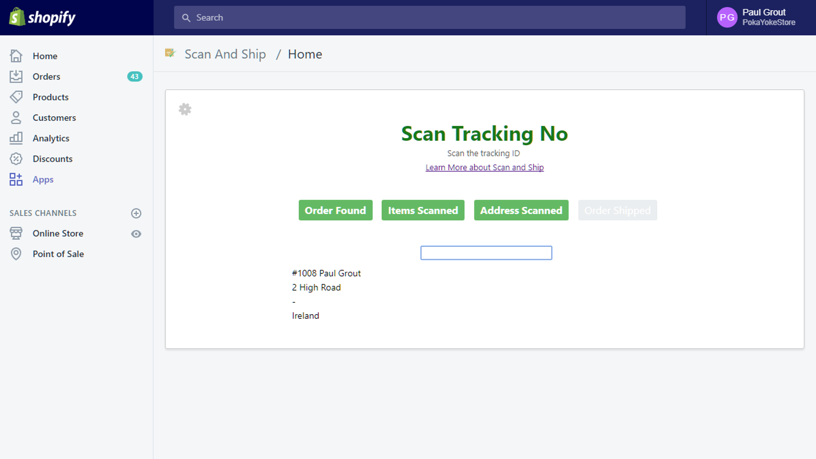 Scan Tracking