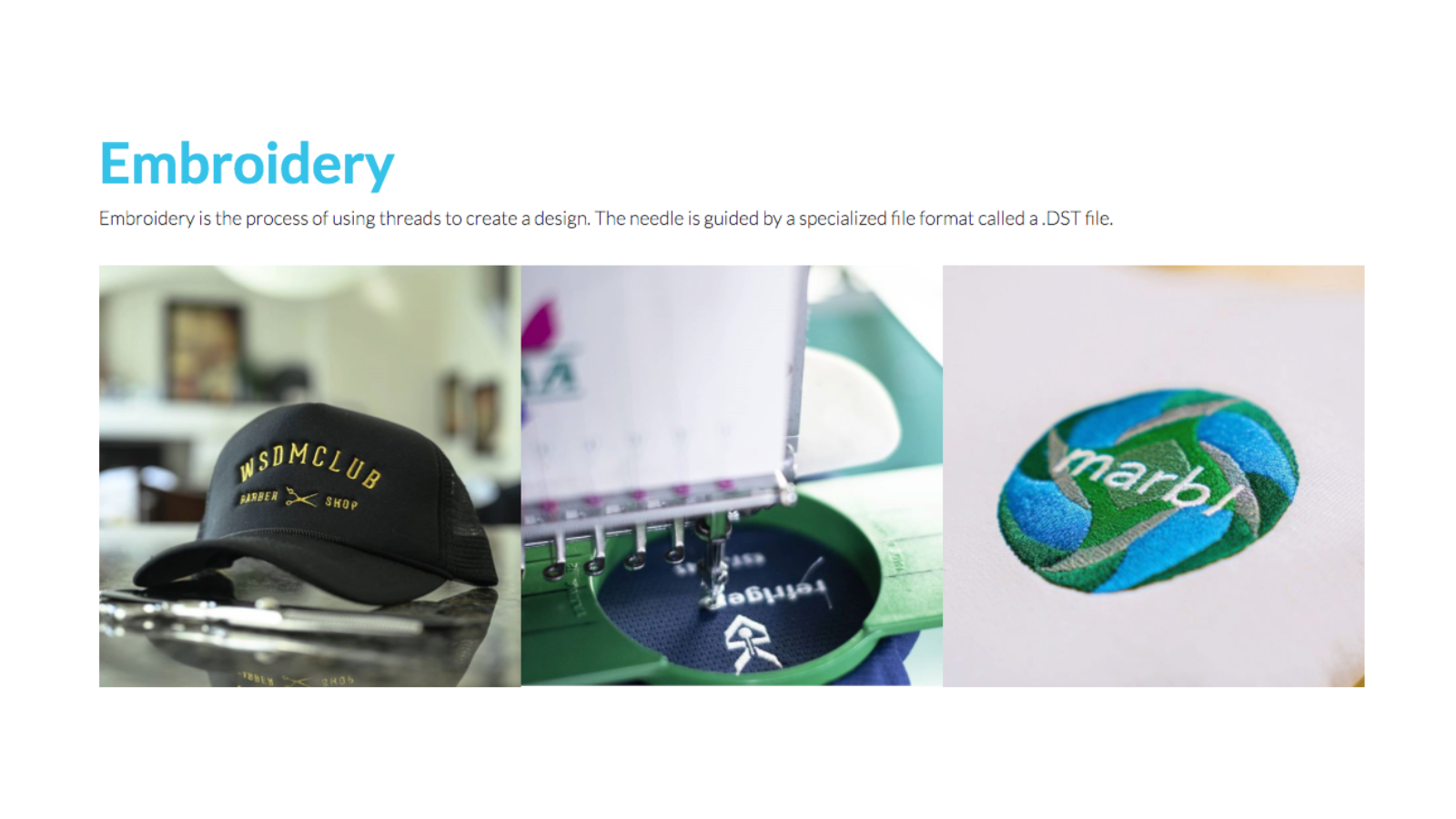 Embroidery print on demand services allow you to drop ship hats.