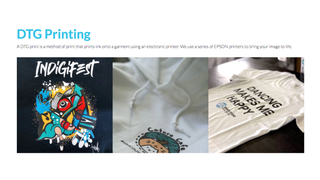 DTG printing is our most common print method.