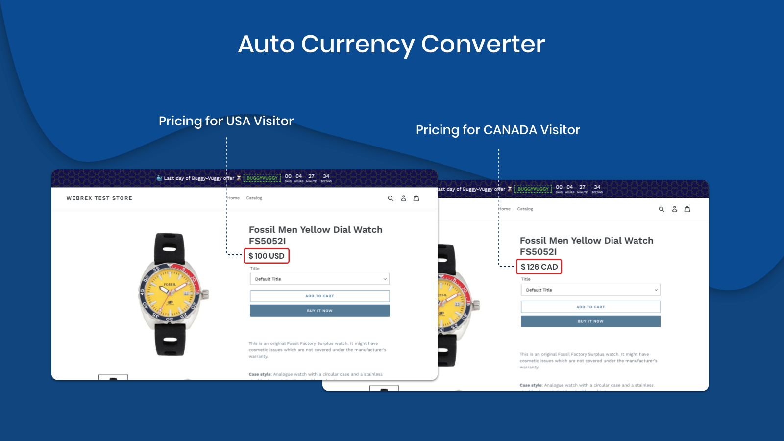 Store front user wise Currency Conversion
