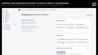 SEO image optimization - rename file names and alt tags