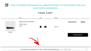 Carbon Checkout Sticky Footer