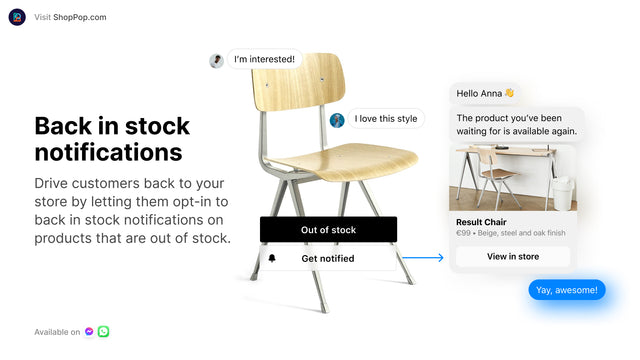 Automatically send back in stock notifications to your customers