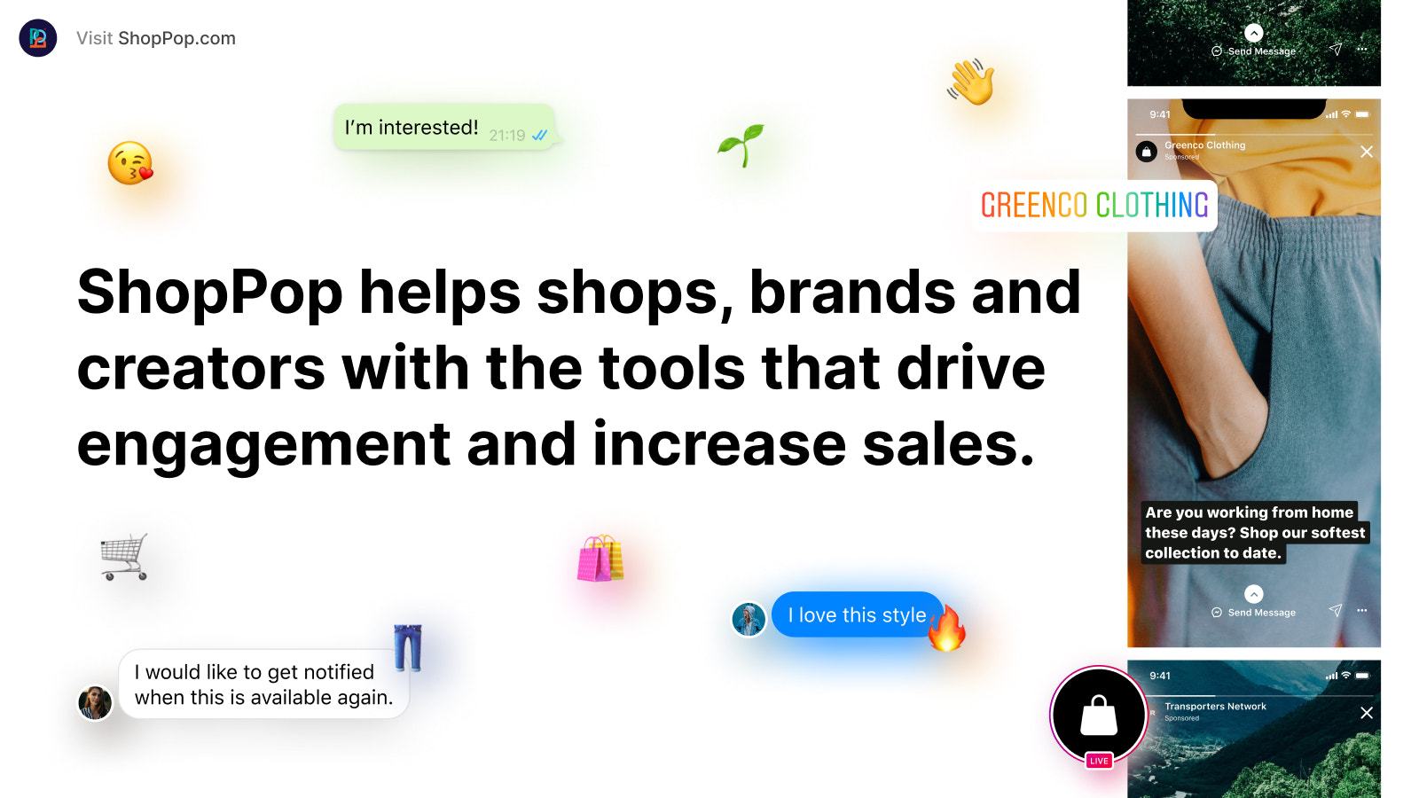 ShopPop helps shops with the tools that increase sales.