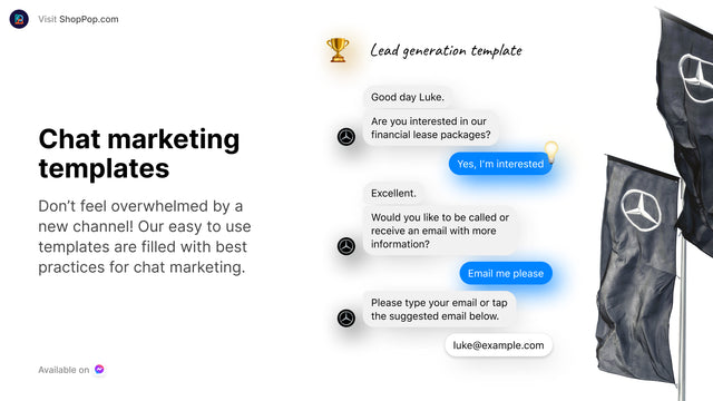 Use ShopPop's Chat Marketing Templates for best practices