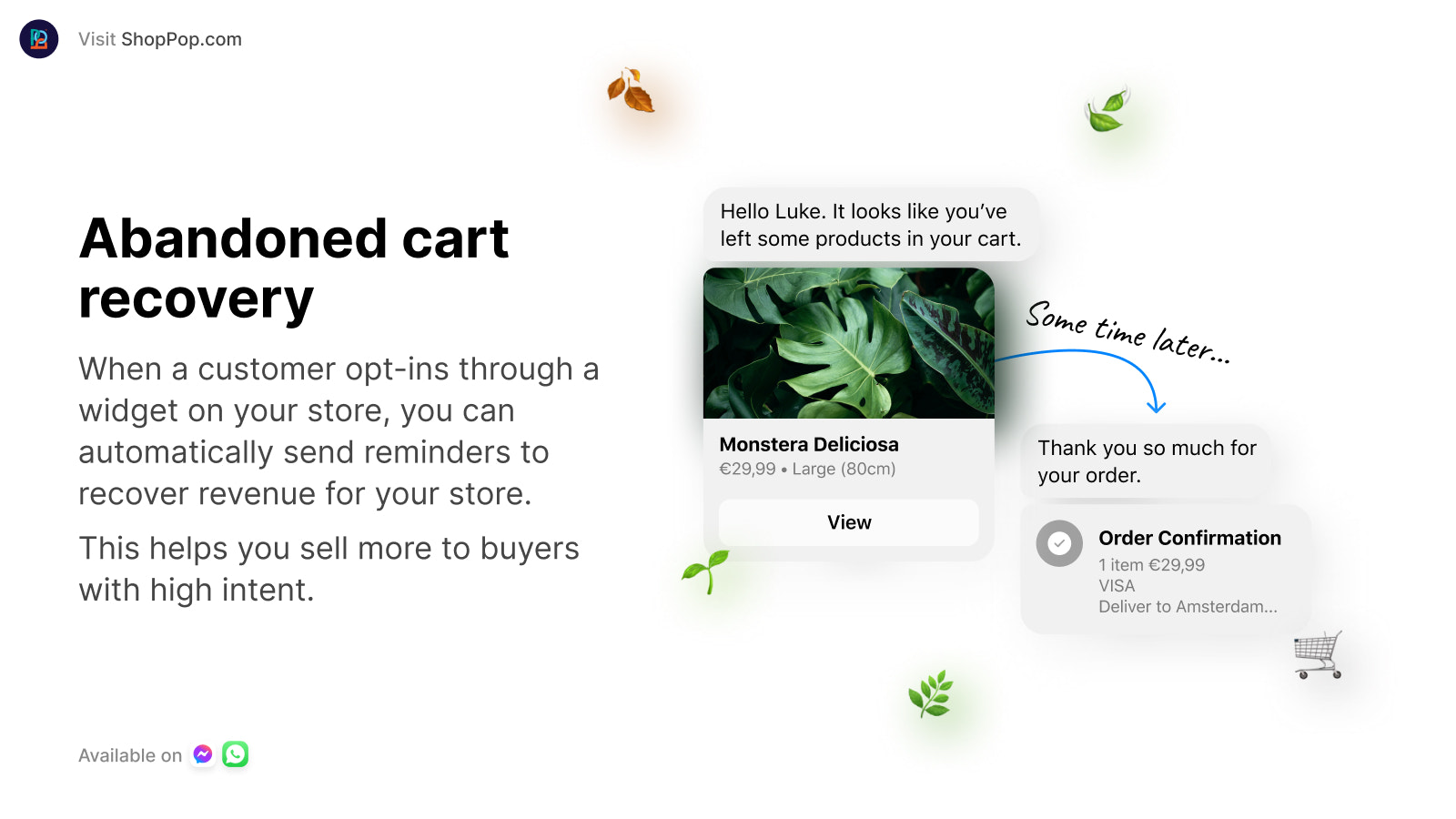 Recover abandoned carts from customers and increase sales