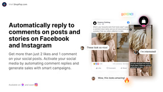 Automatically reply to comments on Facebook and Instagram