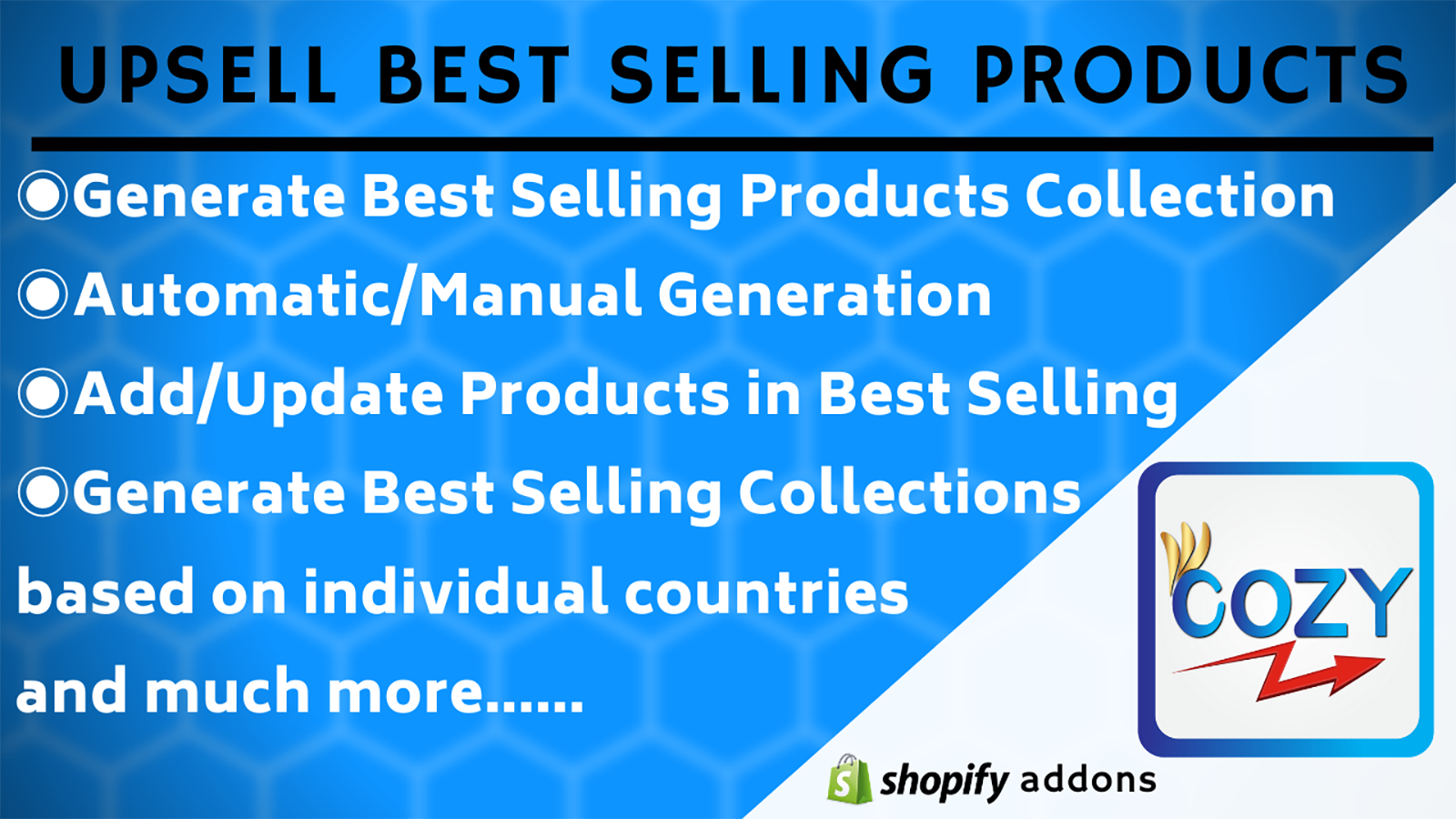 Best Selling Collection Generate for different locations