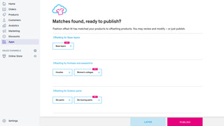 Automatic AI matching of your products with offsetting products