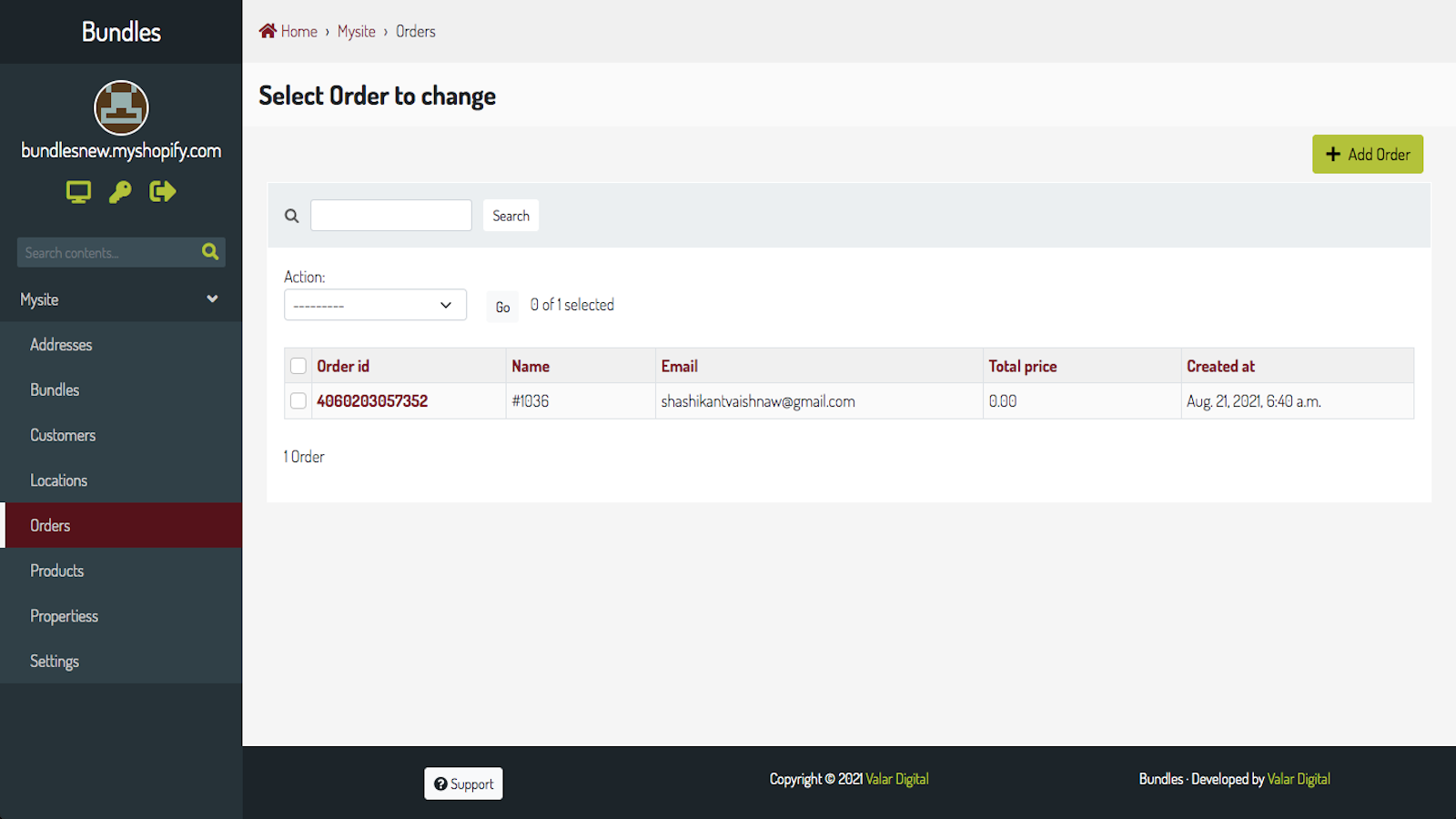 Bundle Order sync and one click replacement