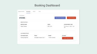 Booking Dashboard
