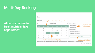 Multi Day Bookings