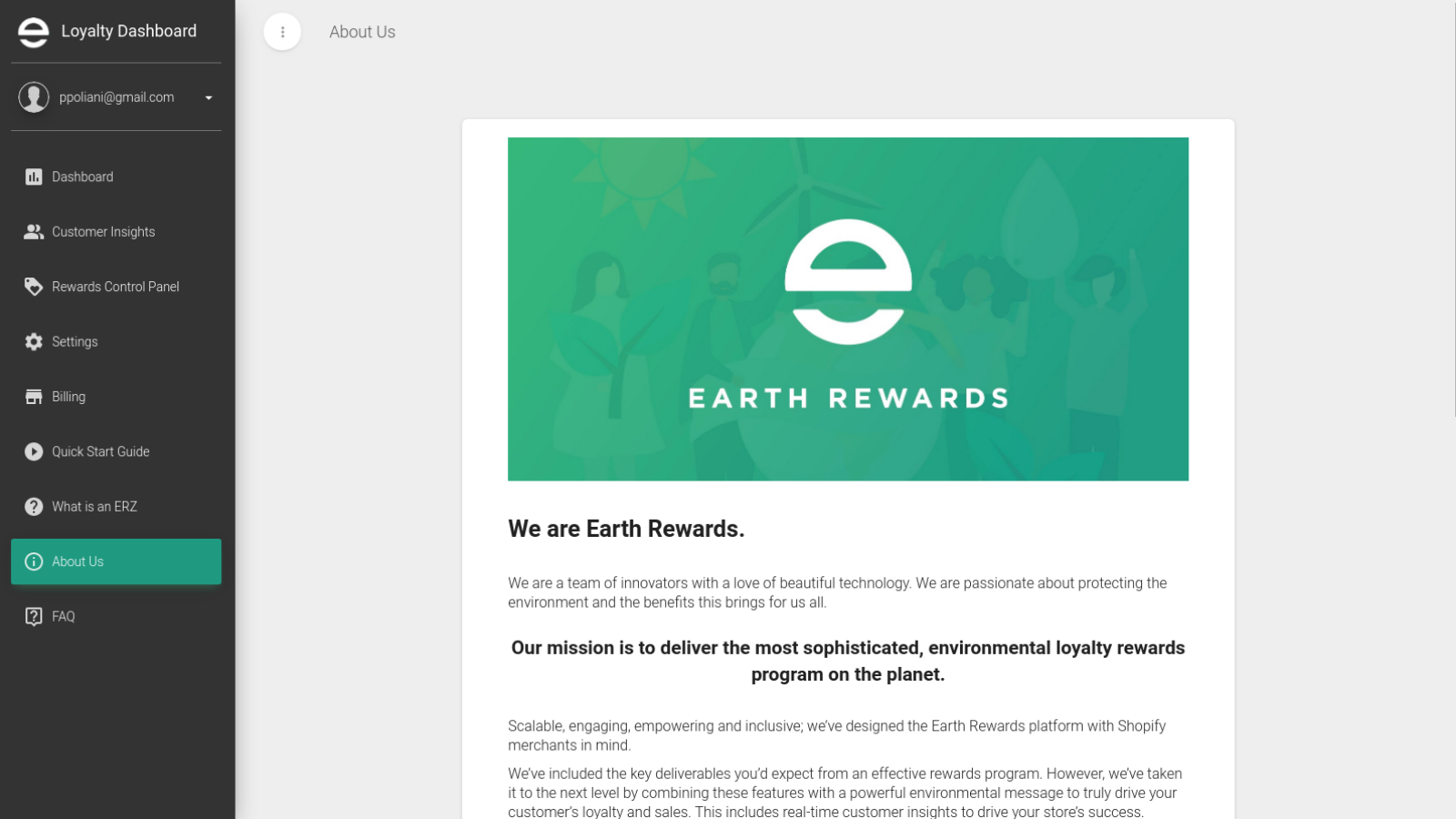 Find out more about how Earth Rewards benefits the environment.