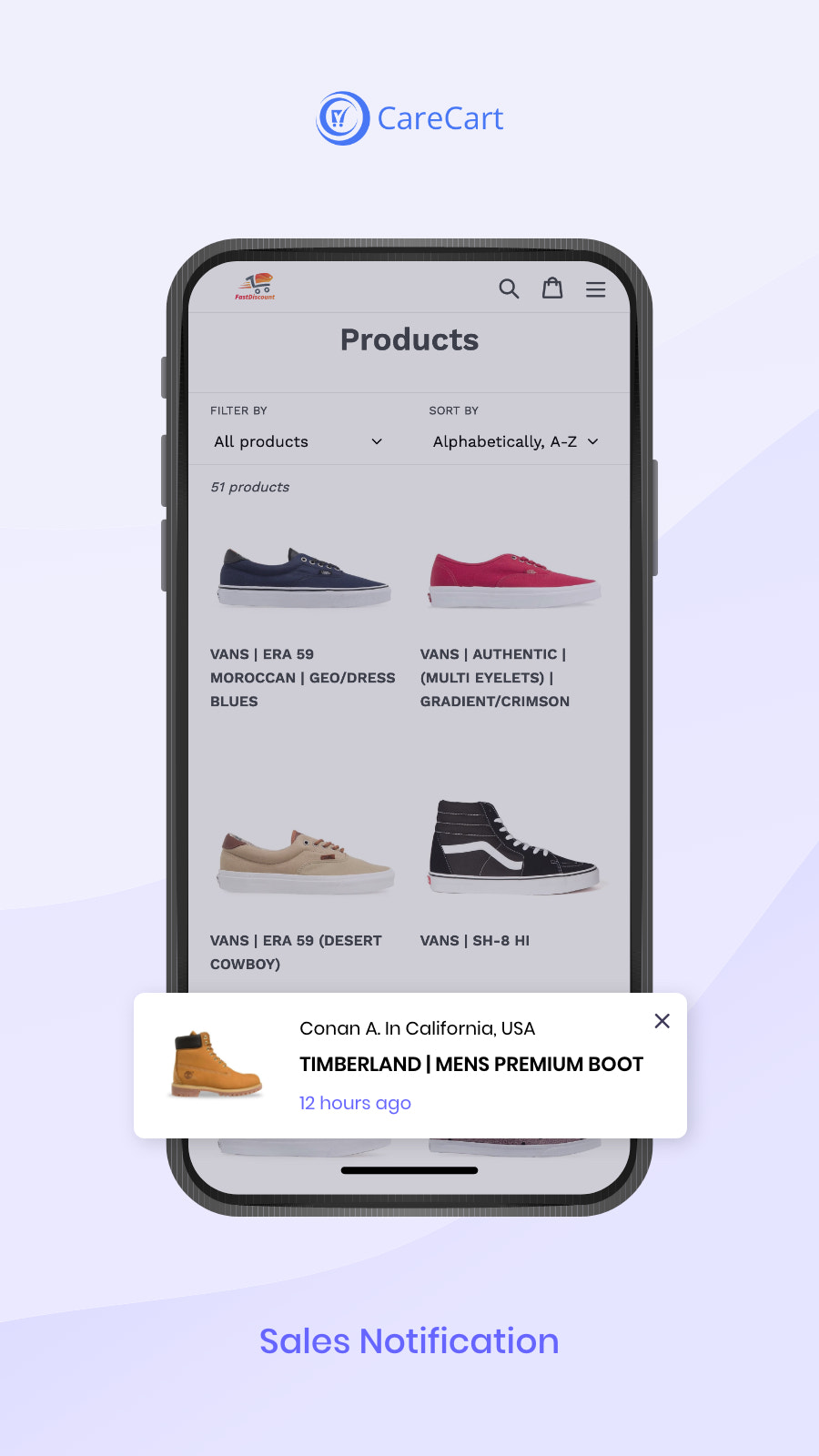 Sales Popup Notifications display the recent sales on your store