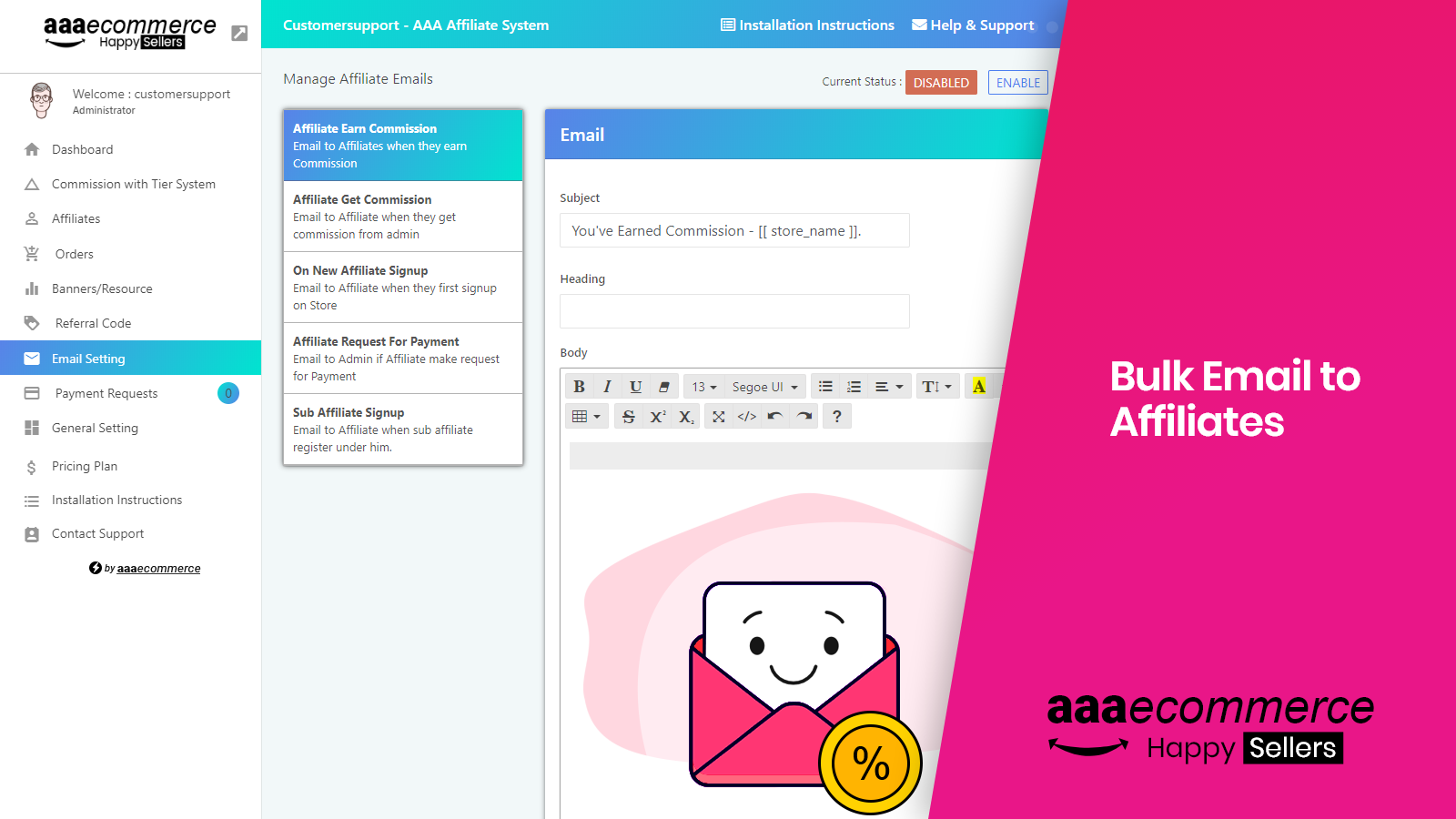 Email Marketing to Affiliates