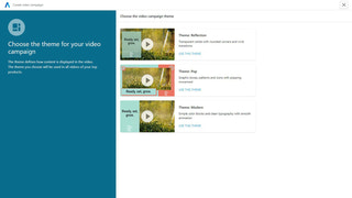Select the theme of your video ad from a library of options