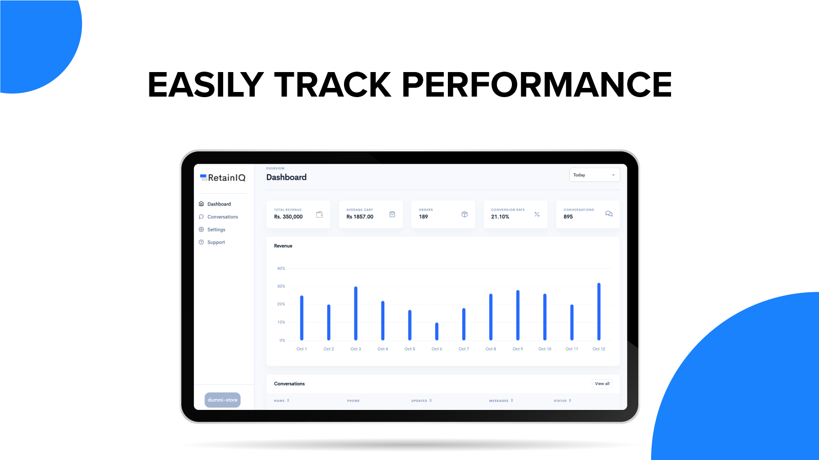 Easily Track Performance